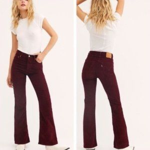 LEVIS RIBCAGE HIGH RISE FLARE SHIRAZ CORD JEANS 27
